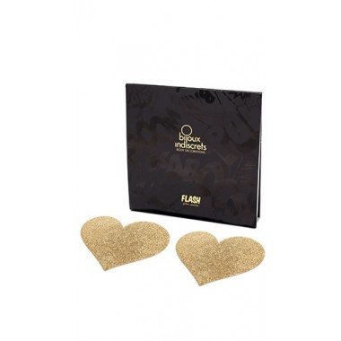 Pezoneras heart gold Bijoux